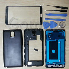 Full Housing Case Glass Lens Tool For Samsung Galaxy Note 3 ATT N900A Black