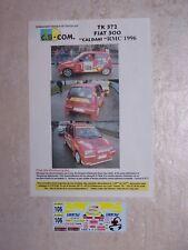 "DECALS C.B.COM. 1/43ème FIAT 500 ""CALDANI""  Monte-Carlo 1996"