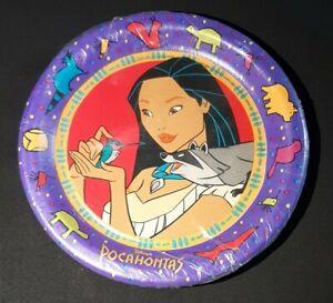 """Vintage Disney Pocahontas 8 Party Plates NEW size 6 3/4"""" Hallmark"""