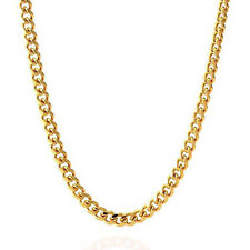 """24K Yellow Gold Plated 5mm Miami Cuban Mens Link Nickel Free Chain Necklace 27"""""""