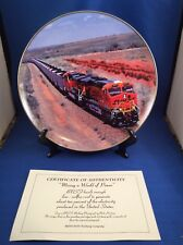 "2007 BNSF Railway Safety Award Collector Plate - ""Moving A World Of Power"