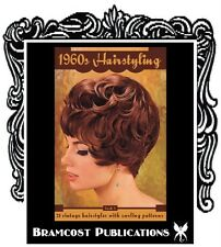 1960s Hairstyle Book / 75 Curling Patterns (Updos Vintage Retro Hairstyling)