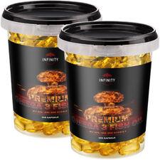 250 - 1000 Kapseln PREMIUM OMEGA 3 / Fischöl Lachsöl 1000mg + EPA DHA Vitamin E