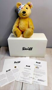 STEIFF PUDSEY CHILDREN IN NEED LIMITED EDITION BEAR + BOX & COA No. 00248