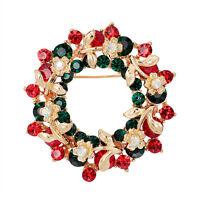 Joyas Cristal Guirnalda Redonda Broche de Navidad Regalos Fiesta Papá NoQA