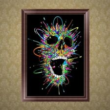 DIY 5D Skull Diamond Embroidery Painting Cross Stitch Art Craft Home Decor