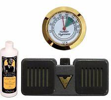 Cigar Caddy 8 oz Humidor Seasoning kit Gold Hygrometer Humidifier Maintain 250