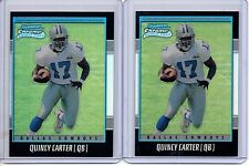QUINCY CARTER 2001 Bowman Chrome Refractor RC Lot (2) /1999 Cowboys Rookie Card