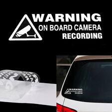 Warning On Board Camera Recording Car Window Truck Auto Vinyl Sticker Rectangle