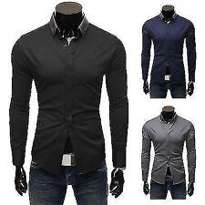 Camicie polo da uomo a manica lunga in misto cotone