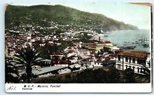 *M.O.P. Madeira Island Funchal Portugal City View Old Vintage Postcard A31