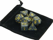 New Chessex Polyhedral Dice with Bag Urban Camo Speckled 7 Piece Set DnD RPG