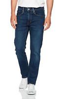 Genuine LEVIS Mens 502 Regular Taper Fit Dark Blue Stretch Denim Jeans LEVI