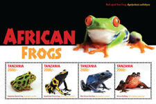 Tanzania 2016 - African Frogs - Sheet of 4 Stamps - MNH