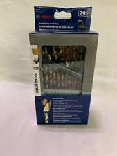 Bosch 29 PC Gold Oxide Drill Bit Set with Case (New In Retail Package) GO29