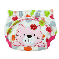 K7Z1 Layer learning panties of washable cotton waterproof cat pattern for baby p