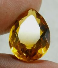 UNTREATED NATURAL 12.35 Cts  YELLOW SAPPHIRE PEAR CUT GEMSTONE EM579
