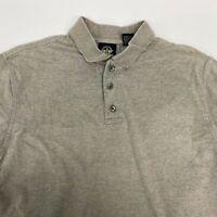 Dockers Polo Shirt Men's Medium Short Sleeve Gray Tan Heather Cotton Casual