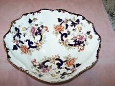 MASONS BLUE MANDALAY OYSTER SHELL SHAPED LARGE SERVING BOWL VERY HARD TO FIND