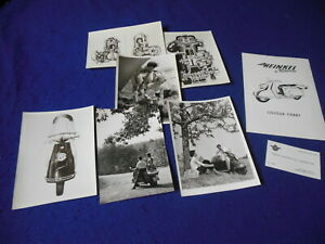 Original Heinkel Tourist Scooter Prospect Kit Press Photos Dealer Card 8 Pieces