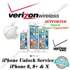 VERIZON USA iPhone 8, 8 Plus & X OFFICIAL UNLOCK SERVICE  1 - 5 DYS