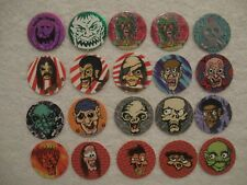 20 Face Pogs Funny Scary Weird Funky Silly Creepy Face Pogs Milkcaps Bottle Caps
