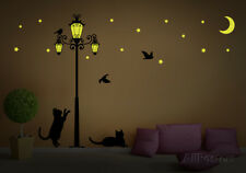 Glow In The Dark Street Light Wall Decal Sticker - 86.5x47