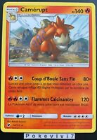 Carte Pokemon CAMERUPT 14/111 Rare Soleil et Lune 4 SL4 FR NEUF