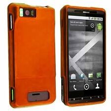 Hard Rubberized Case for Droid X MB810 -Orange