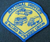 """UNION ALLIED WORKERS EMBROIDERED SEW ON PATCH TRUCK UNIFORM 3 1/2"""" x 3 """""""
