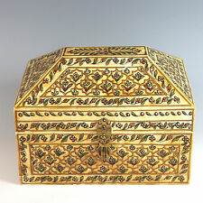 Middle Eastern Inlaid and Painted Table Casket/Box