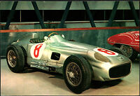 CARTOLINA - MERCEDES BENZ RW 196 - 1954 - MUSEO DELL'AUTOMOBILE - ROTOCALCO