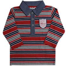Camisas de niño de 2 a 16 años manga larga color principal rojo