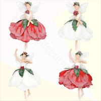 Gisela Graham Princess Swan Christmas Decoration Sitting Cream Length 52cm