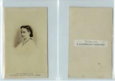 L. D. Carlsruhe, La princesse Louise de Prusse CDV vintage albumen carte de visi