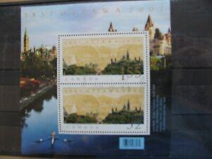 CANADA HOJA BLOQUE USADA AÑO 2007 150 ANIV. FUNDACIÓN OTTAWA