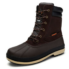 NORTIV 8 Mens Insulated Waterproof Construction Rubber Winter Snow Skii Boots US