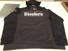 Pittsburgh Steelers Sideline Gold Logo Pullover Performance Hoodie NFL Large