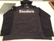 Pittsburgh Steelers Logo Jersey Sudadera con capucha de rendimiento de oro Sideline de medio de NFL