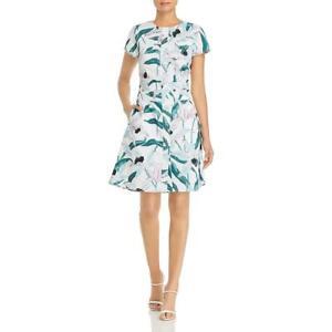 Tory Burch Womens White Cotton Floral Print Button-Down Shirtdress 2 BHFO 4220