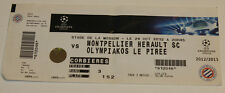 Ticket for collectors CL Montpellier SC - Olympiakos Pireus 2012 France Greece