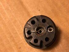 Vintage Amphenol 6-pin Black Bakelite Shorting Plug Adapter w/ Center Pin