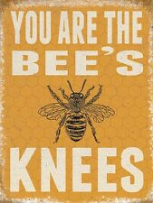 You Are The Bee's Knees small steel sign 200mm x 150mm (og)
