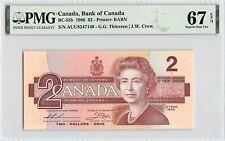 New listing Canada 1986 P-55b Pmg Superb Gem Unc 67 Epq 2 Dollars (Theissen-Crow)
