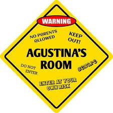 """*Aluminum* Agustina's Room Kids Room Door 12""""x12""""  Metal Novelty Sign"""