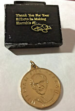 William Fisk Harrah 50 Years Harrah's 1937-1987 Special Gold Token Coin Necklace