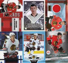 CHICAGO BLACKHAWKS Lot of 10 hockey cards, includes Memorabilia & Rookies