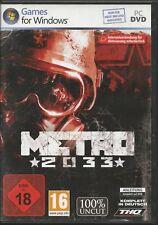 Metro 2033 (PC, 2010, nur der Steam Key Download Code) Keine DVD, nur Steam Key