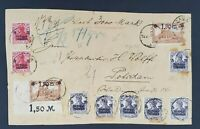 1922 Germany Potsdam Overprint Inflation Multi Franking Front Only Vintage Cover