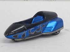 Lean Machine in schwarz/blau mit Dekorstreifen, ohne OVP, Hot Wheels, 1:64